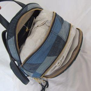 b364e934e747 Michael Kors Bags - Michael Kors Rhea Mosaic Patchwork Denim Backpack